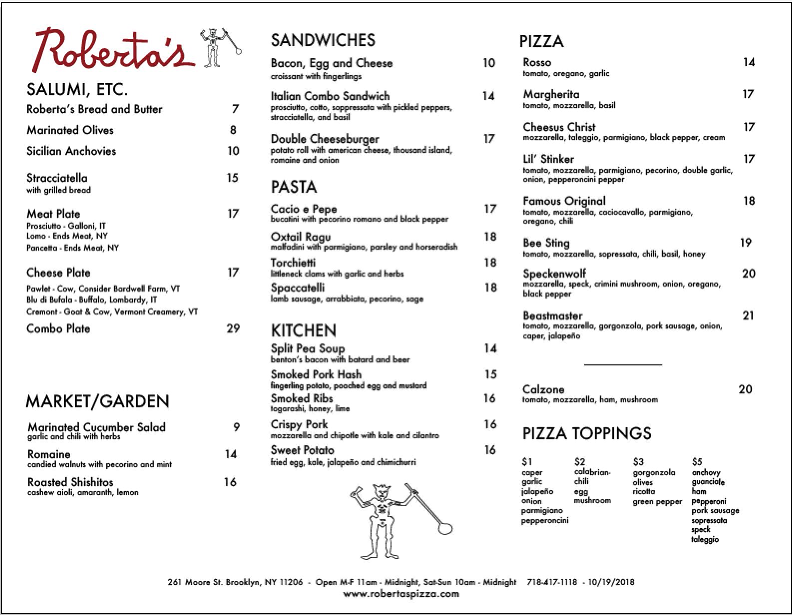 Roberta S New York Pizza Brooklyn Manhattan