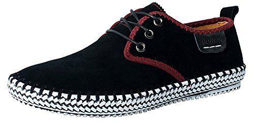 Mohem Men's Poseidon Suede Leather Casual Walking Shoes Fashion Sneakers (9.5 D(M)US, Black) MOHEM http://www.amazon.com/dp/B0156UPIIW/ref=cm_sw_r_pi_dp_i4Dvwb1BVGGRA