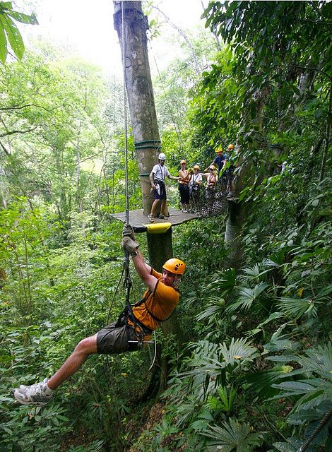Zip lining Costa Rica! We did it, but it was in the crazy rain, Omg what a ride?!?
