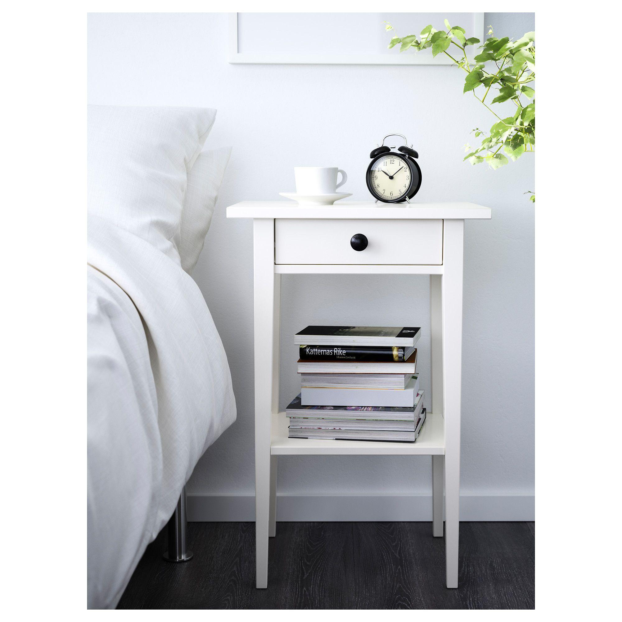 IKEA HEMNES Nightstand white stain Hemnes bedside