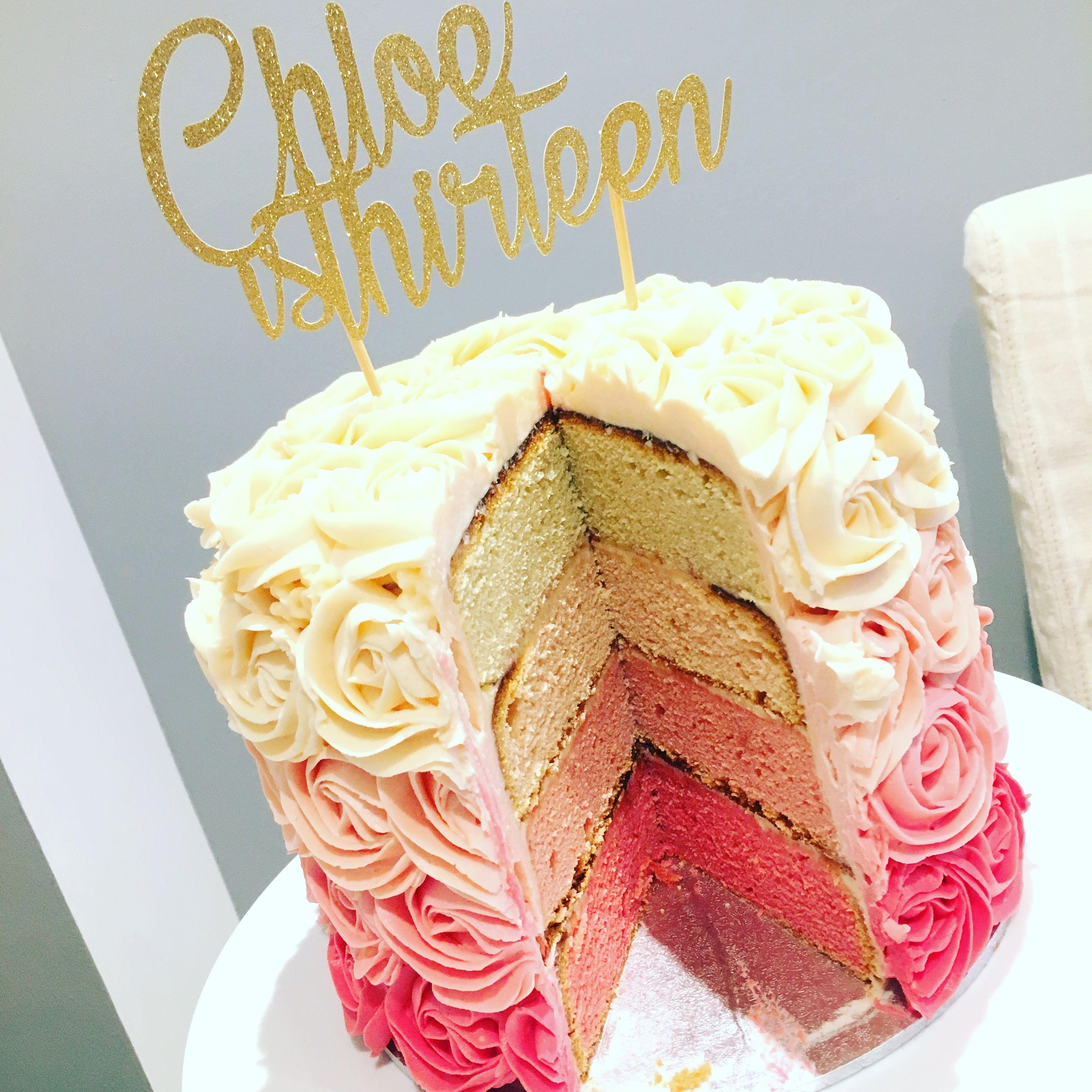 Magnificent Teenager Girls Rose Swirl Birthday Cake Birthday Cake Girls Personalised Birthday Cards Akebfashionlily Jamesorg