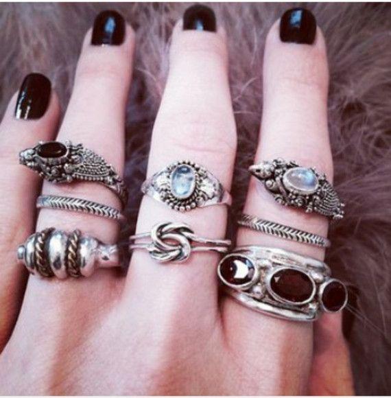 Gothic Ring Soft Grunge Ring Pastel Goth Ring Titanium Quartz Ring Goth Ring Crystal Ring Rainbow Crystal Ring Pastel Grunge Ring