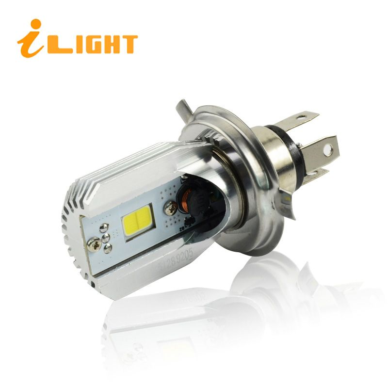 iLight H4 LED Motorcycle Headlight Bulb COB HS1 Head lamp DC