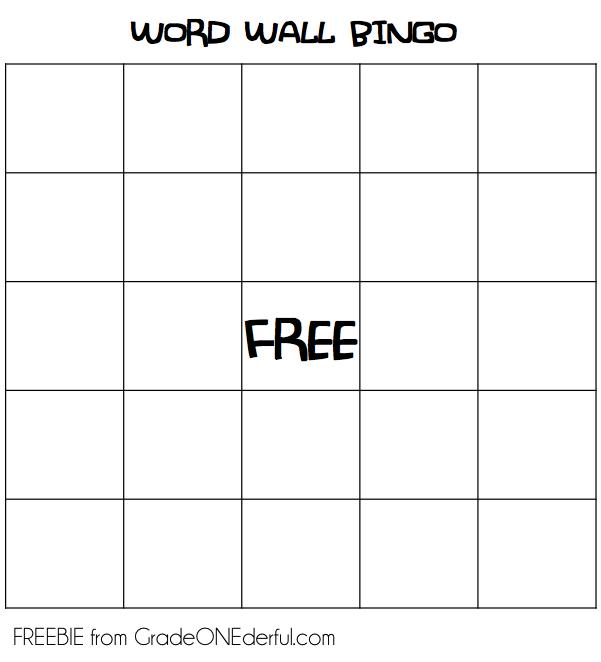 Word Wall Bingo Word Wall Activities Word Wall Word Wall Centers