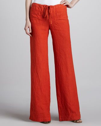 3b06853d18 Vince Linen Drawstring Beach Pants: I have similar pants in blue and beige  and have been known to wear them to much more serious settings than the  beach.