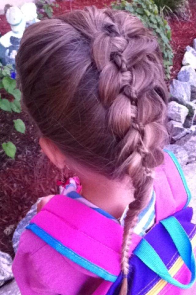 4 strand lace French braid