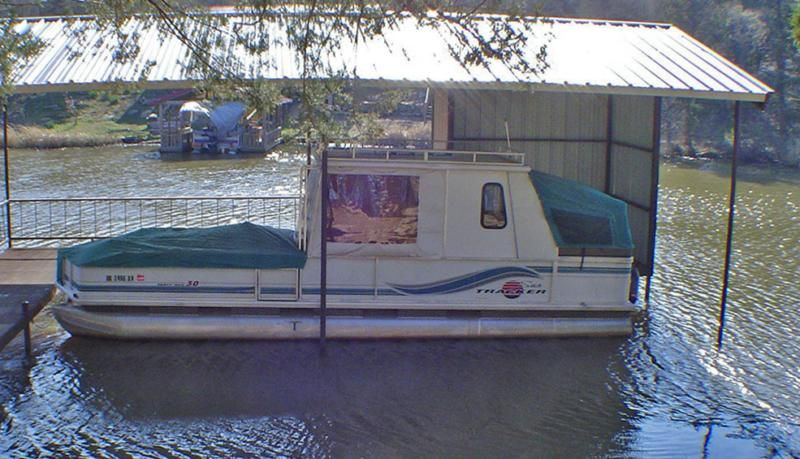 30' Party Hut Pontoon Boat For Sale - Extra Nice! Kitchen, Potty