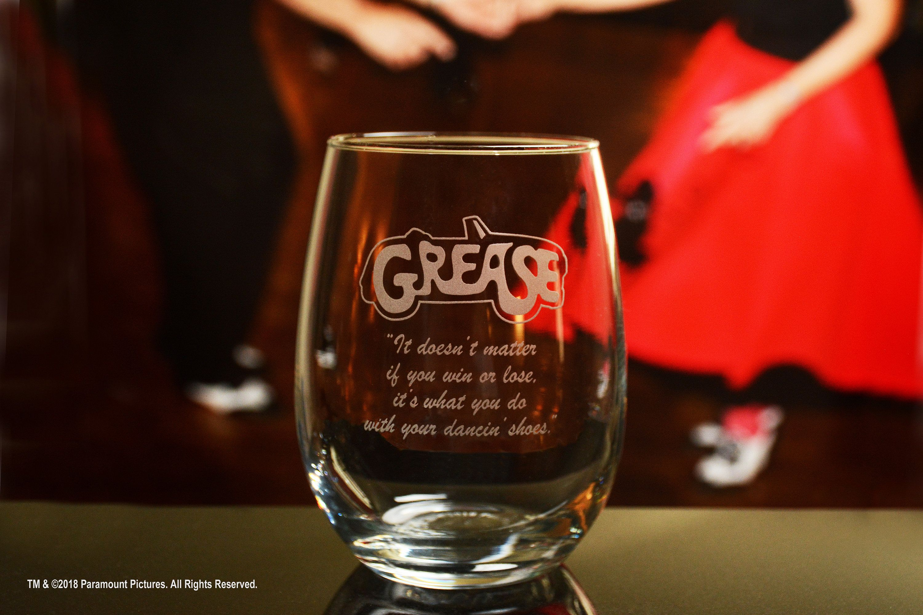 Grease Movie Engraved Logo Stemless Wine Glass With Quote It Etsy Stemless Wine Glass Wine Glass Grease Movie