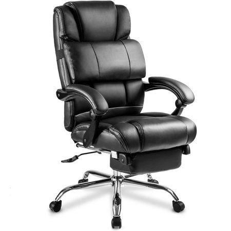 Marvelous Merax Ergonomic Leather Big Tall Office Chair With Creativecarmelina Interior Chair Design Creativecarmelinacom