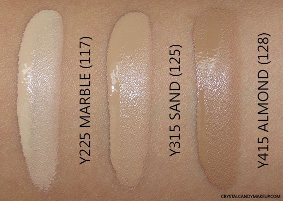 Make Up For Ever Ultra Hd Invisible Cover Foundation Swatch Y225 Y315 Y415 Foundation Swatches Makeup Forever Hd Foundation Makeup Forever Ultra Hd Foundation
