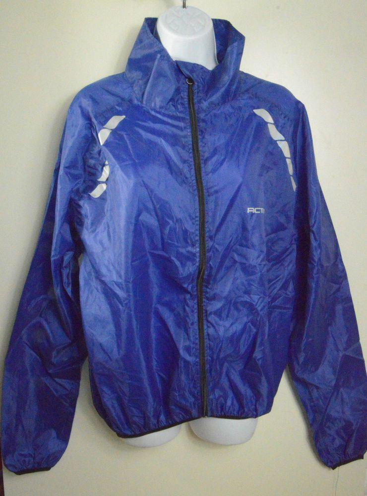 Activo Blue Reflective Running Cycling Rain Jacket With