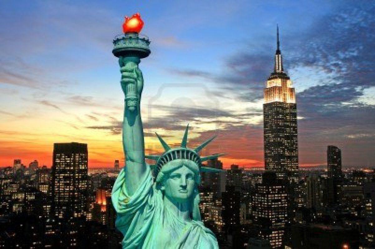 new york skyline Google Search Liberty new york, City
