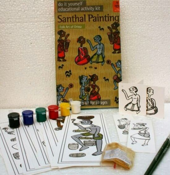 Diy indian traditional painting kits santhal painting from orissa direct create collaboration solutioingenieria Image collections