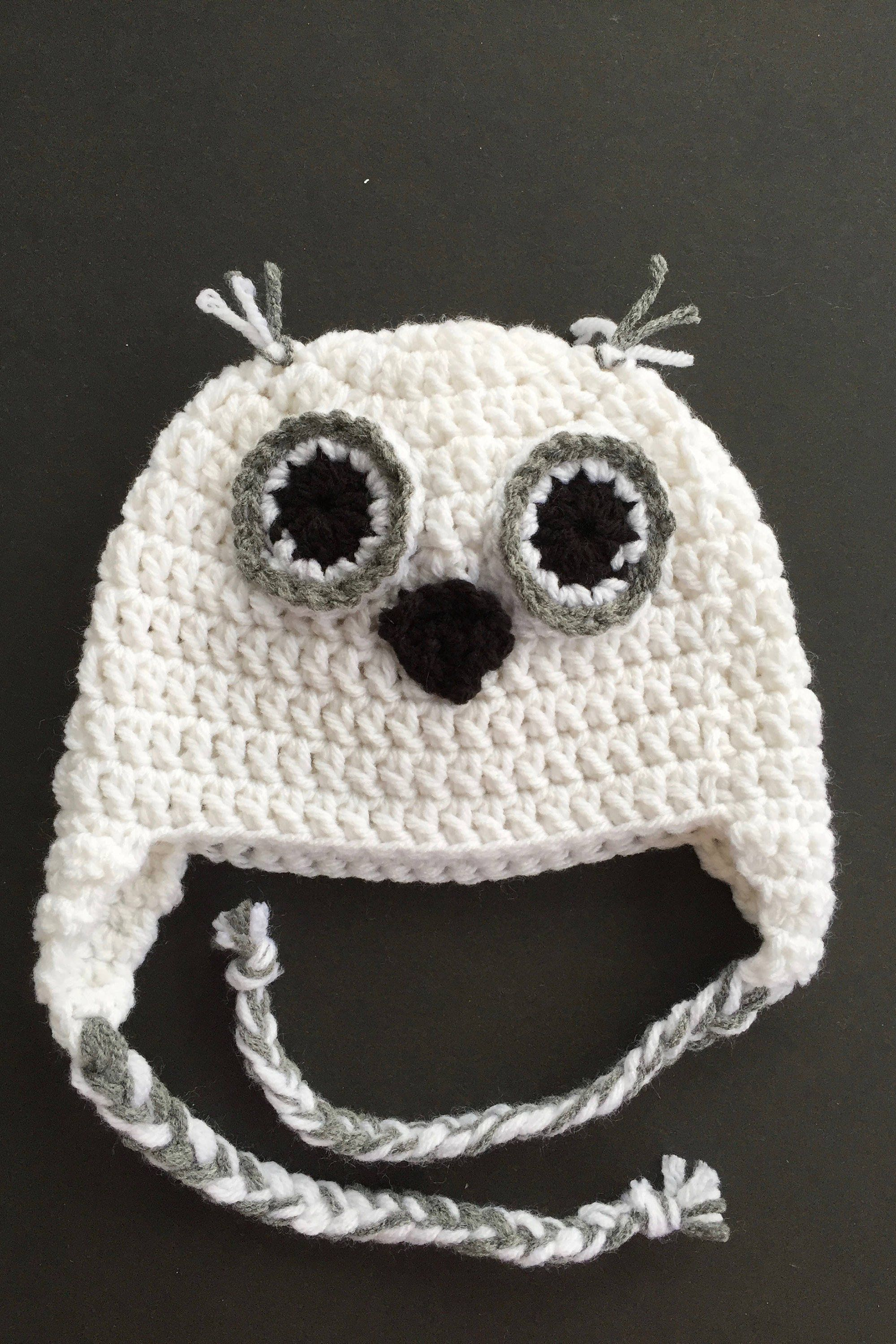 Baby snowy owl hat, inspired by hedwig and harry potter ...