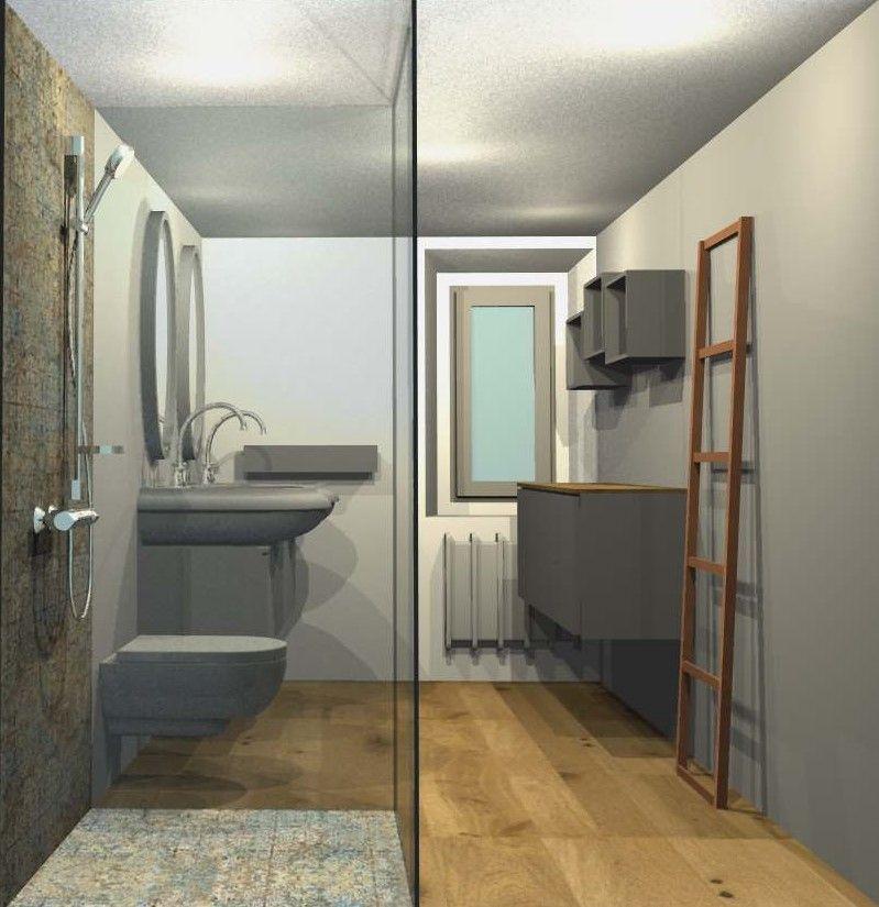 Vorschlag Badezimmer, Fliesen Mit Verblichenem Design Hippe