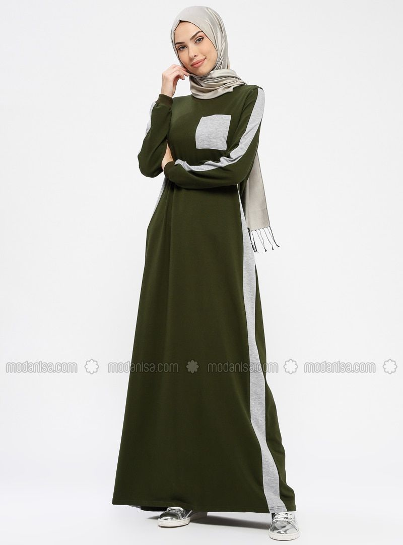 942e7bd3cba Khaki - Crew neck - Unlined - Dresses in 2019