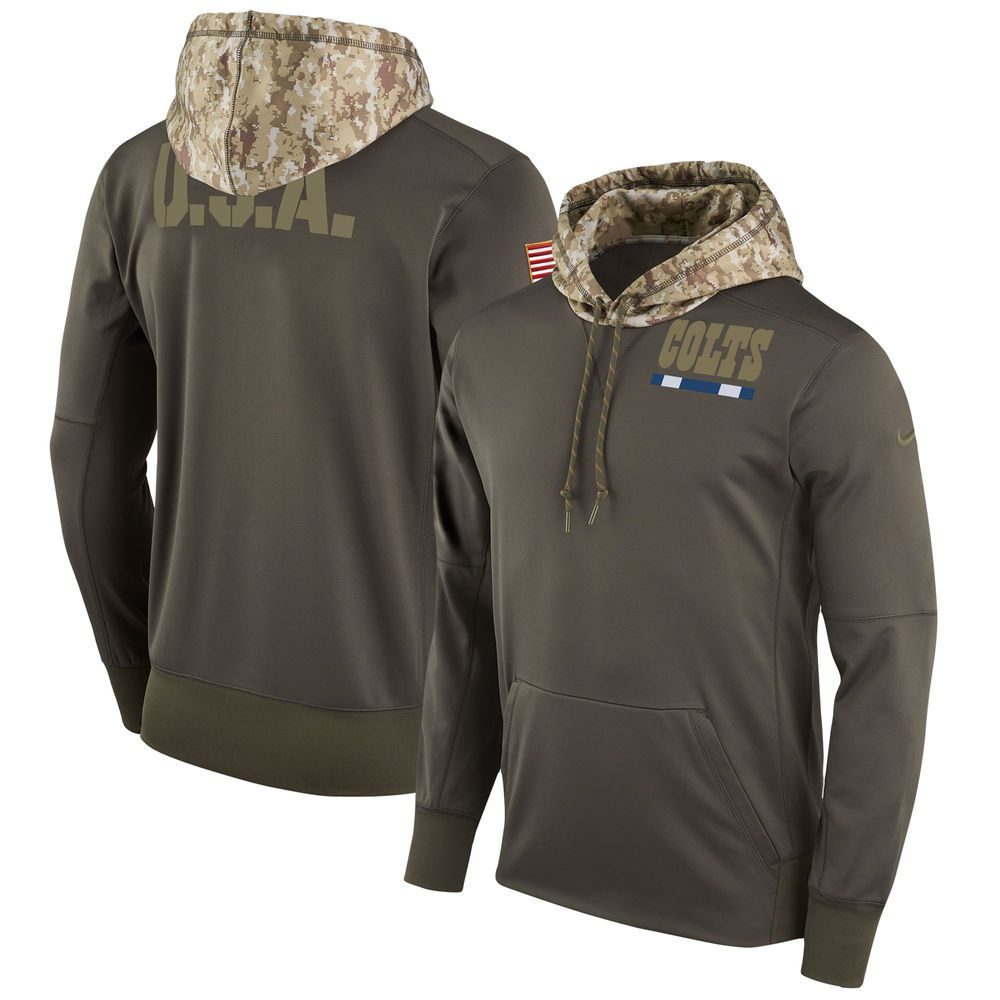big sale f5a8f 3b185 Men's Indianapolis Colts Nike Olive Salute to Service ...