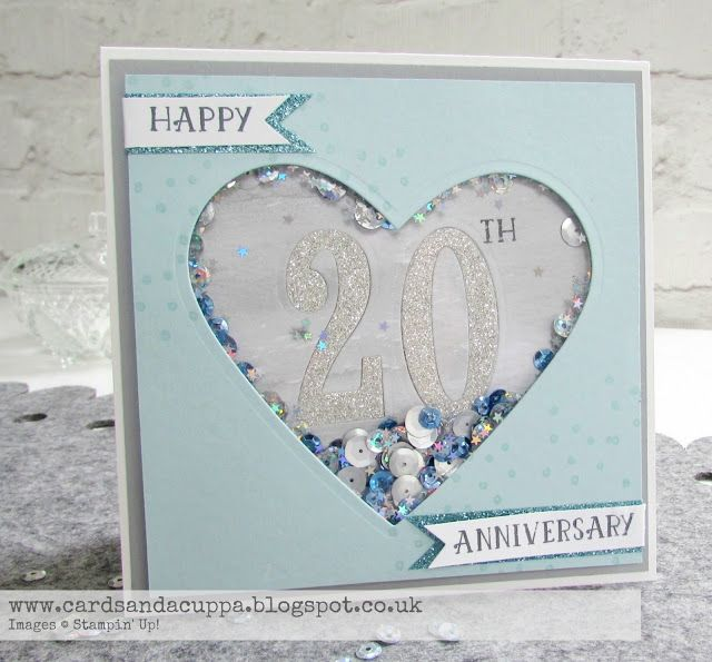 20th Wedding Anniversary Card Using Number Of Years By Su Cards And A Cuppa Wedding Anniversary Cards 20th Anniversary Cards 20 Year Anniversary Cards