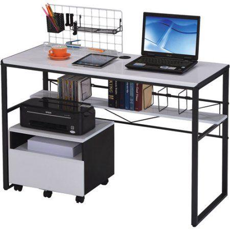 Ellis Student Computer Desk Black And White
