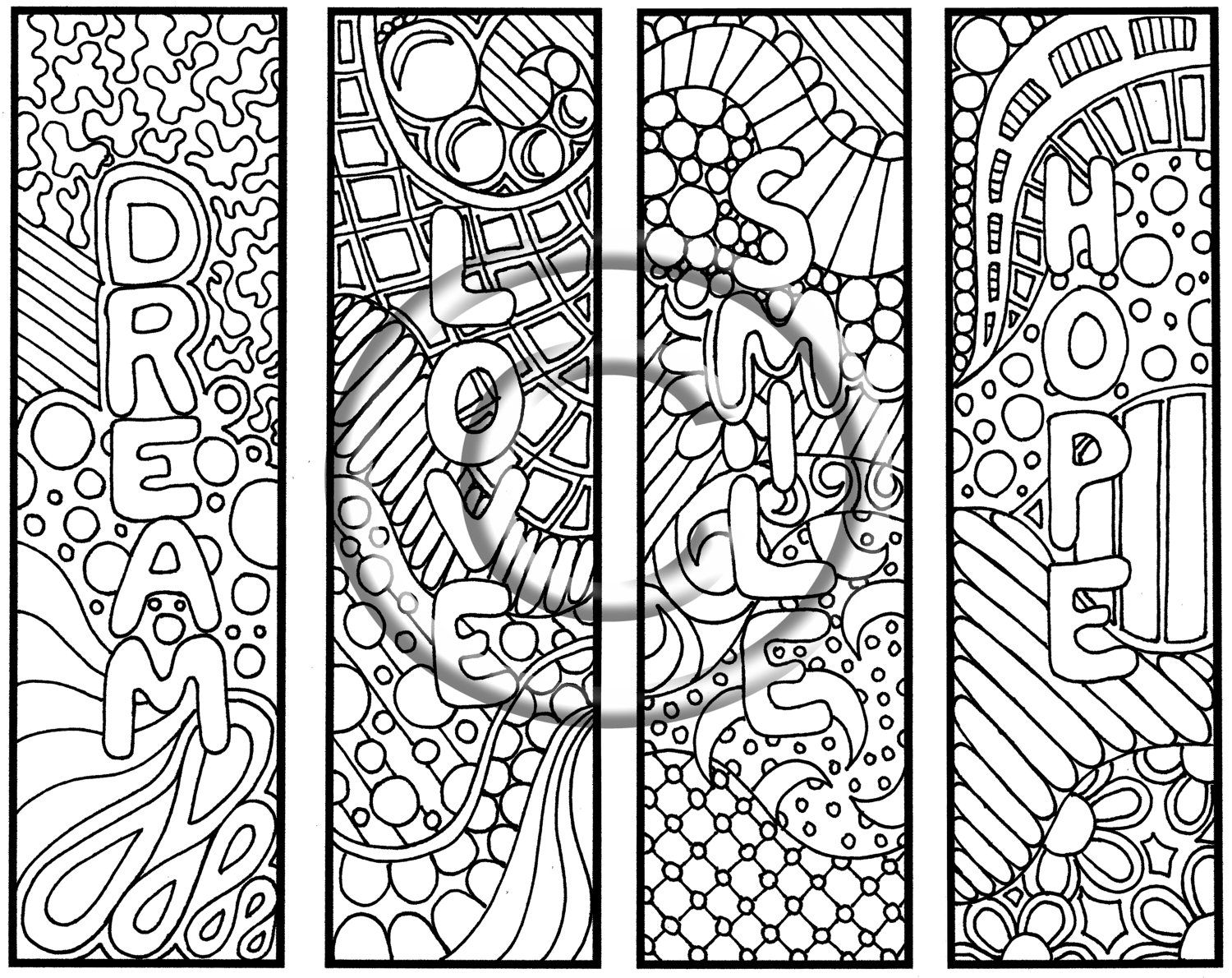 Uncategorized Crazy Designs To Color crazy designs coloring pages doodle bookmarks pages