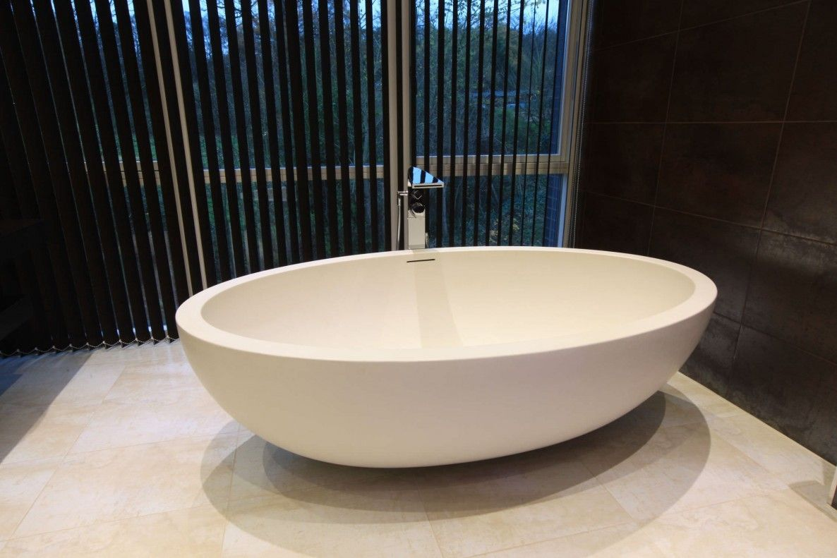 Architecture Bathroom Furniture Sensational White Freestanding Oval ...