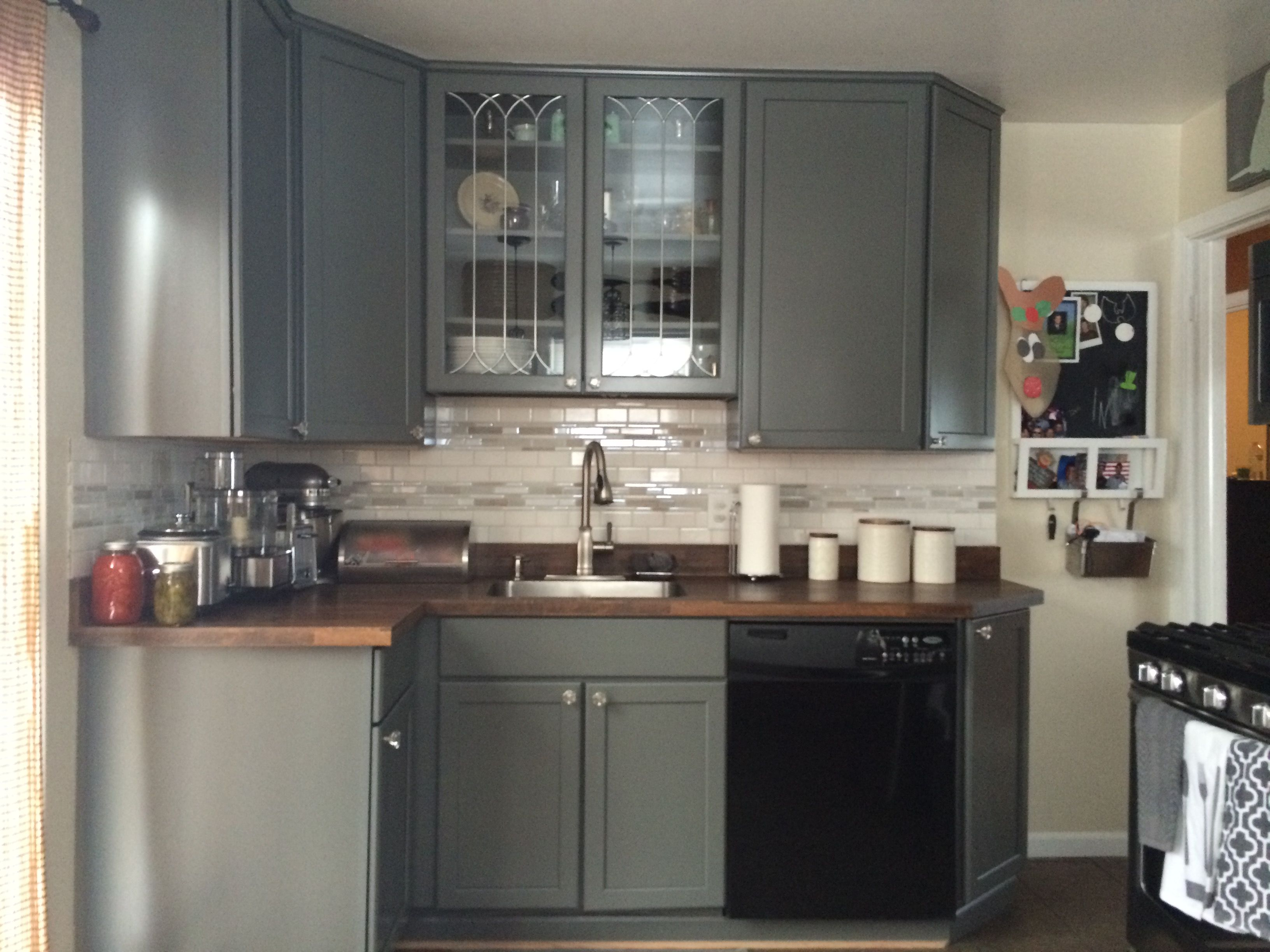 Kraftmaid grey kitchen cabinets - Remodel Of Our Kitchen After A Fire I Am In Love With Our Greyloft Kraftmaid
