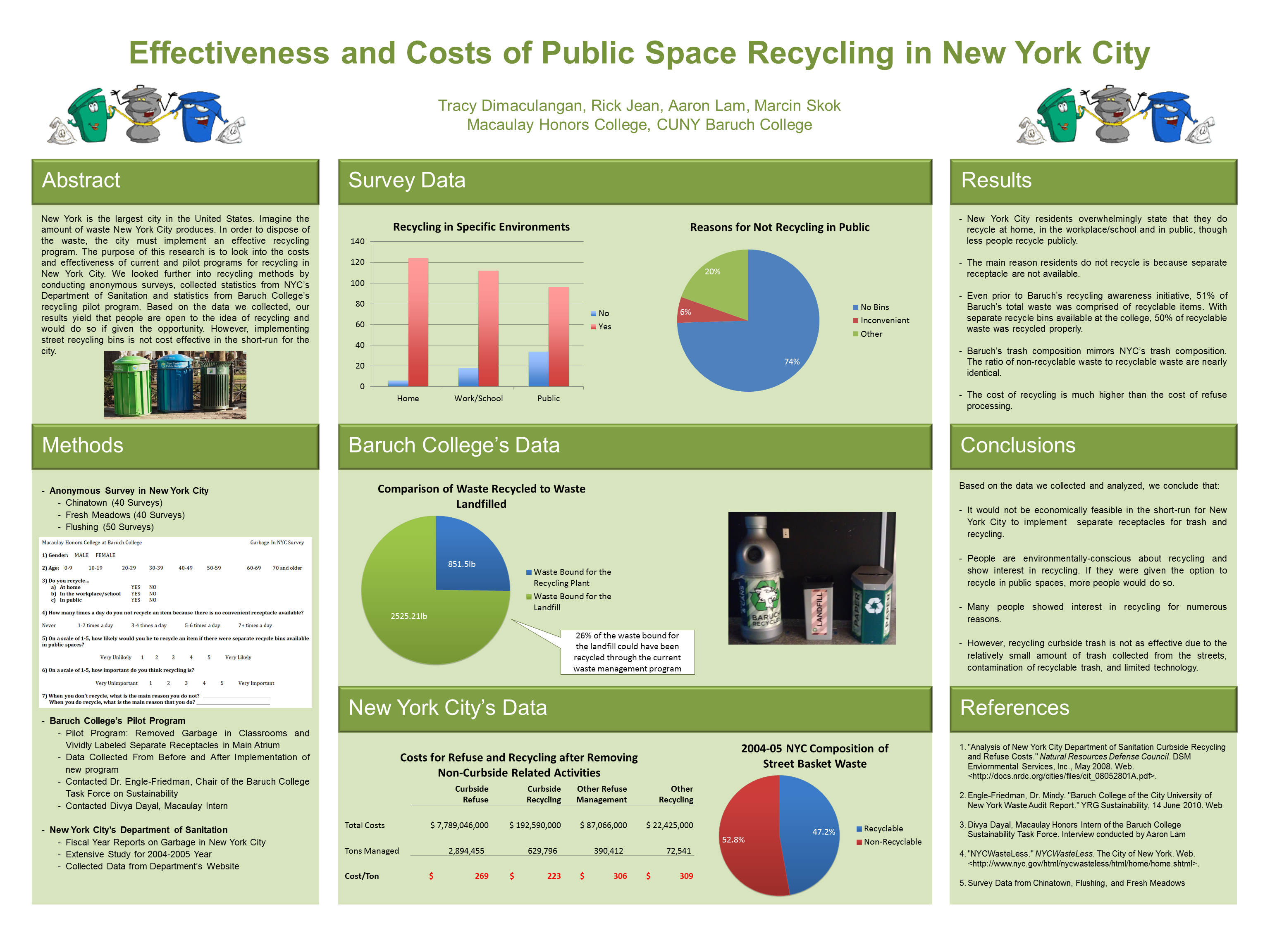 Pin By Julien Chastang On Science Posters Science Poster Recycle City Survey Data
