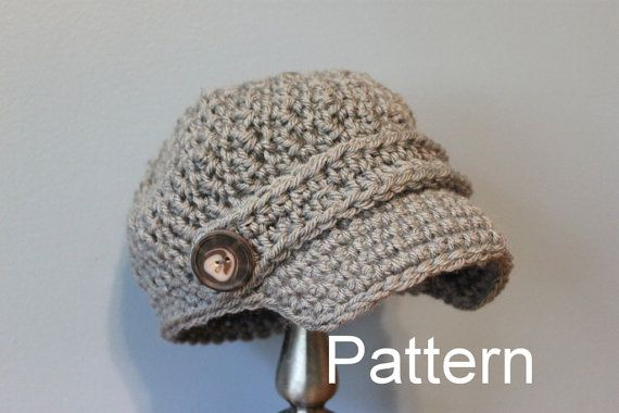 Newsboy Cap Pattern - Children and Adult Size Hat - Instant Download ...