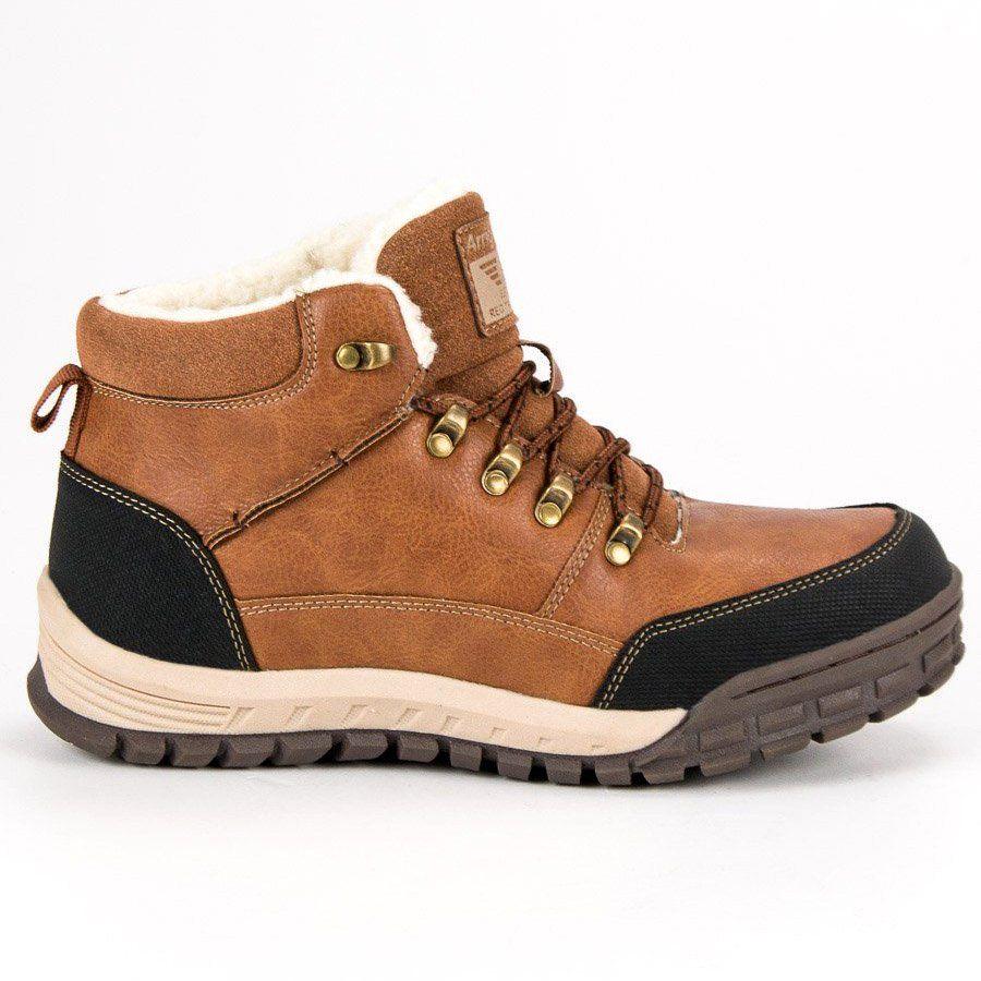 Trekkingowe Meskie Arrigobello Arrigo Bello Brazowe Cieple Buty Zimowe Boots Hiking Boots Shoes