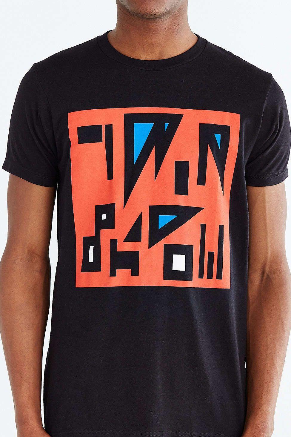 Twin Shadow GeoLetters Tee Short sleeve tee shirts