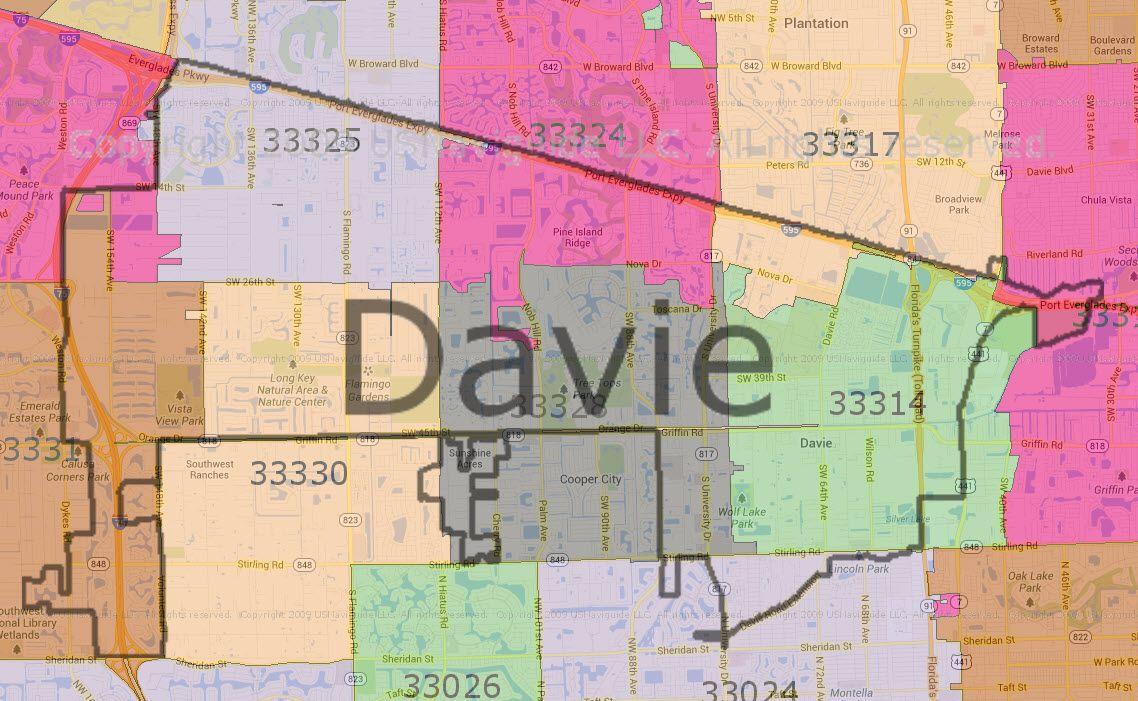 Davie Florida Zip Code Map Before you call a AC repair man visit