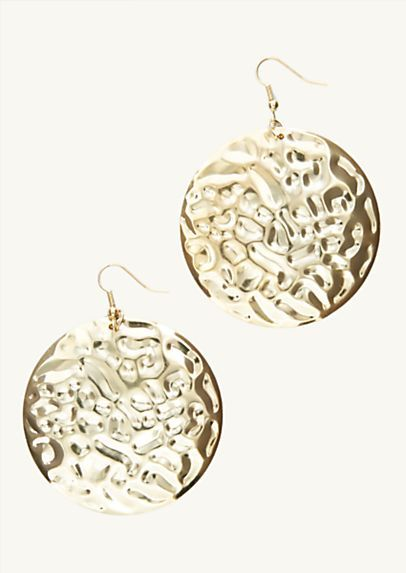 image of Hammered Disc Earrings