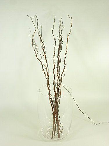 Dekozweige Lichterzweige 50 Led 0 06w Stimmungsleu Glass Vase