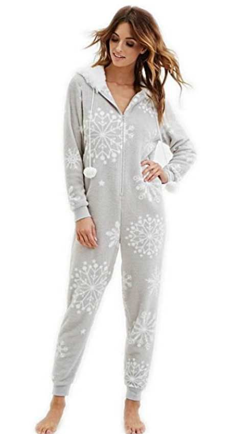 Women's Hooded Pom Pom Onesie   Pyjamas, Pj and Fashion
