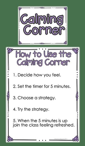 Create A Calming Corner In Your Classroom The Blue Brain Teacher By Selma Dawani Classroom Behavior Management Calm Classroom Teaching Classroom