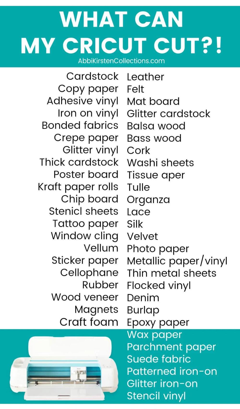The Best Materials for Cricut Explore and Cricut Maker ...