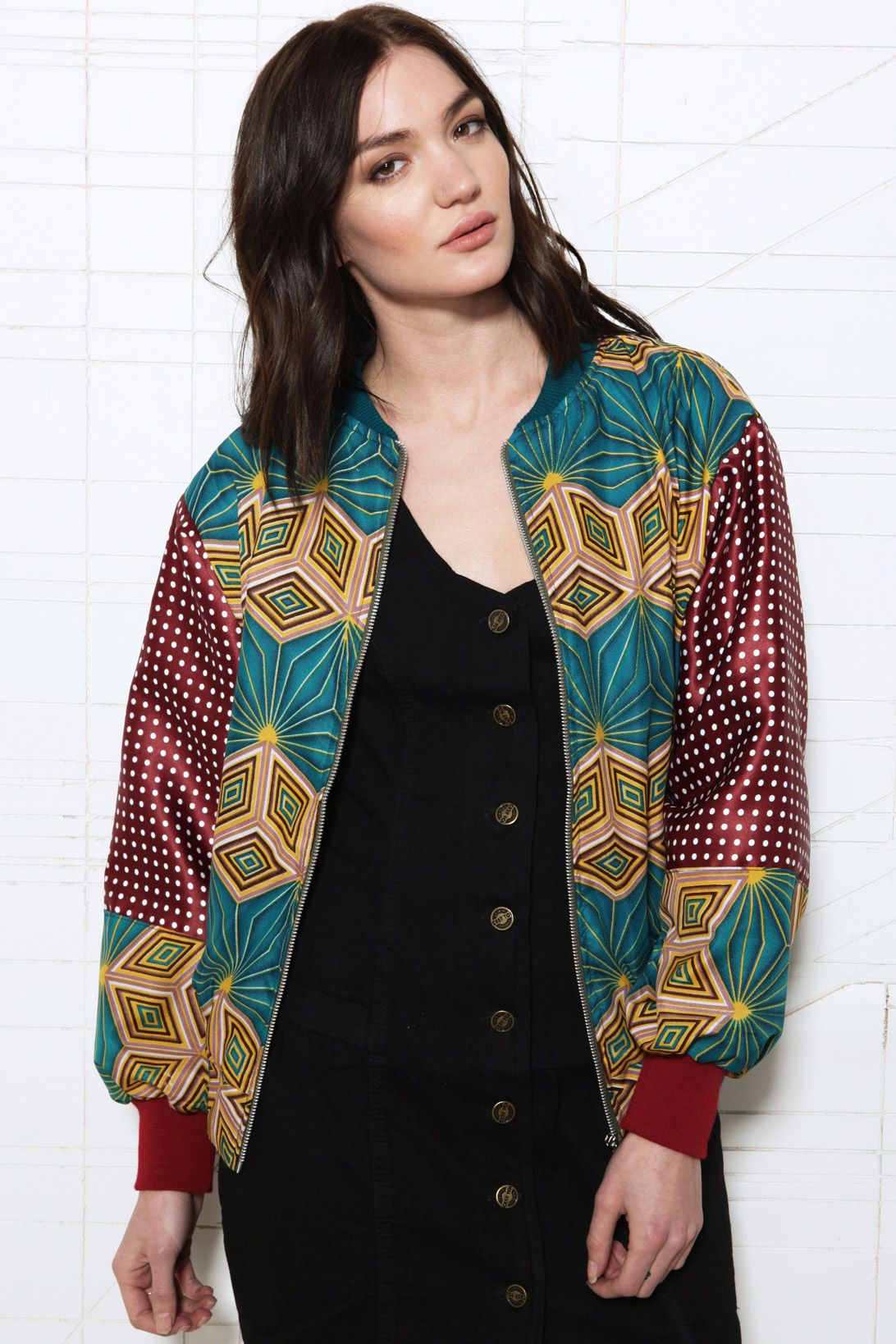 Modern patchwork: Renewal My Tribe Bomber Jacket at Urban Outfitters #fashion #london #UrbanOutfitters
