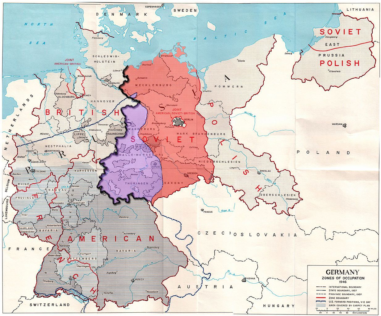 Allied Occupation Zones In Germany 1945 Avec Images Berlin