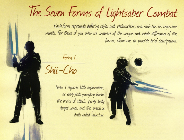 jedi fighting styles | Here fighting styles known are Shii Cho ...