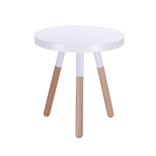 Skane Round Side Table   Small   White 34% OFF | $79.00   Milan Direct