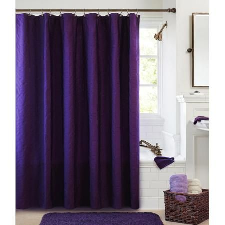 Better Homes And Gardens Chadwell Fabric Shower Curtain Collection Walmart Com With Images Purple Shower Curtain Lavender Shower Curtain Black Shower Curtains