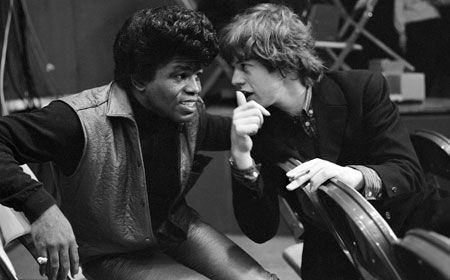 We were folowing James Brown between filming, I don't think he like that.  Mick Jagger