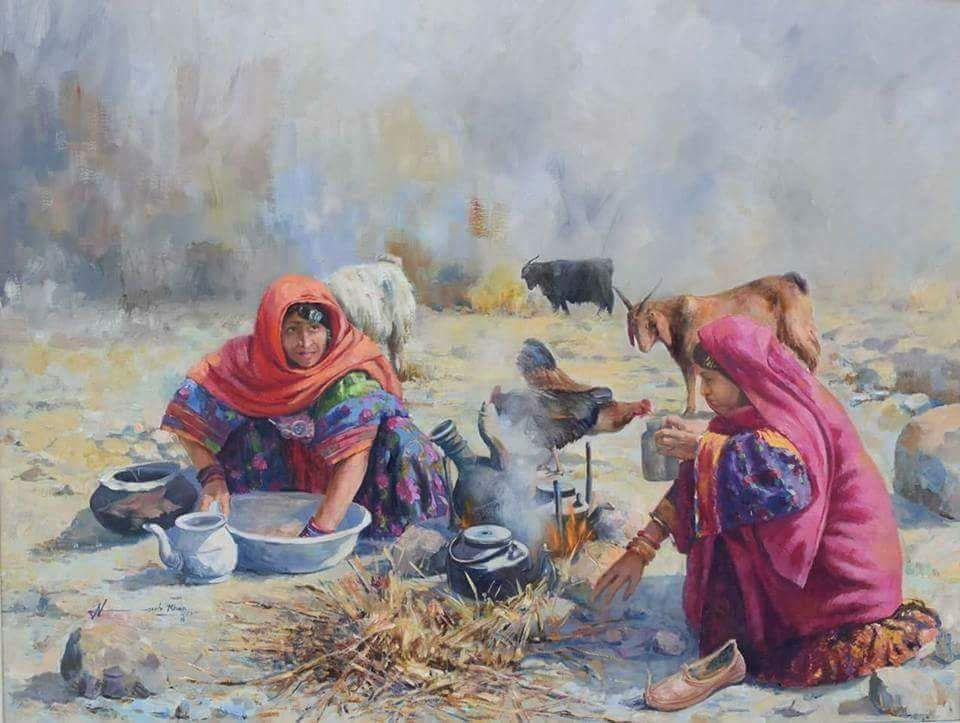 Pashtun Culture Depicted In Paintings Game Of Thrones Rabab Music