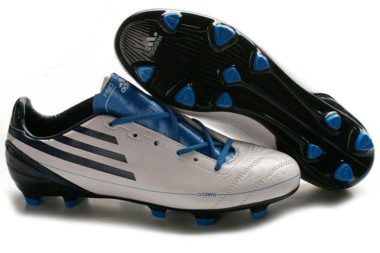 Adidas f50 adizero trx fg soccer cleats white black blue