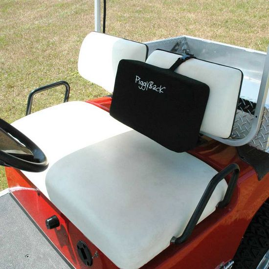 Piggy Back Seat Cushion Sunbrella Black $76.99 | Piggy Back Cushion on golf cart body, golf cart skirt, golf cart axle shaft, golf cart width, golf cart cushion covers, golf bag back cushion, golf cart seat, golf cart frame,