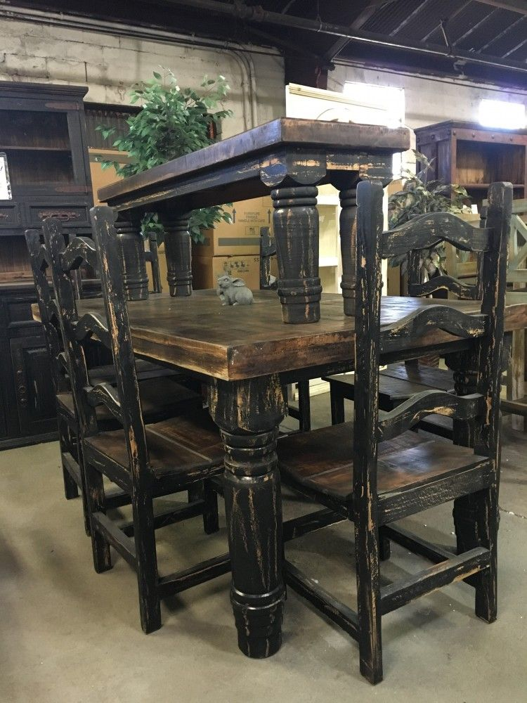 Rustic Canyon Black 7pc Dinette Rustic Canyon Country Dining