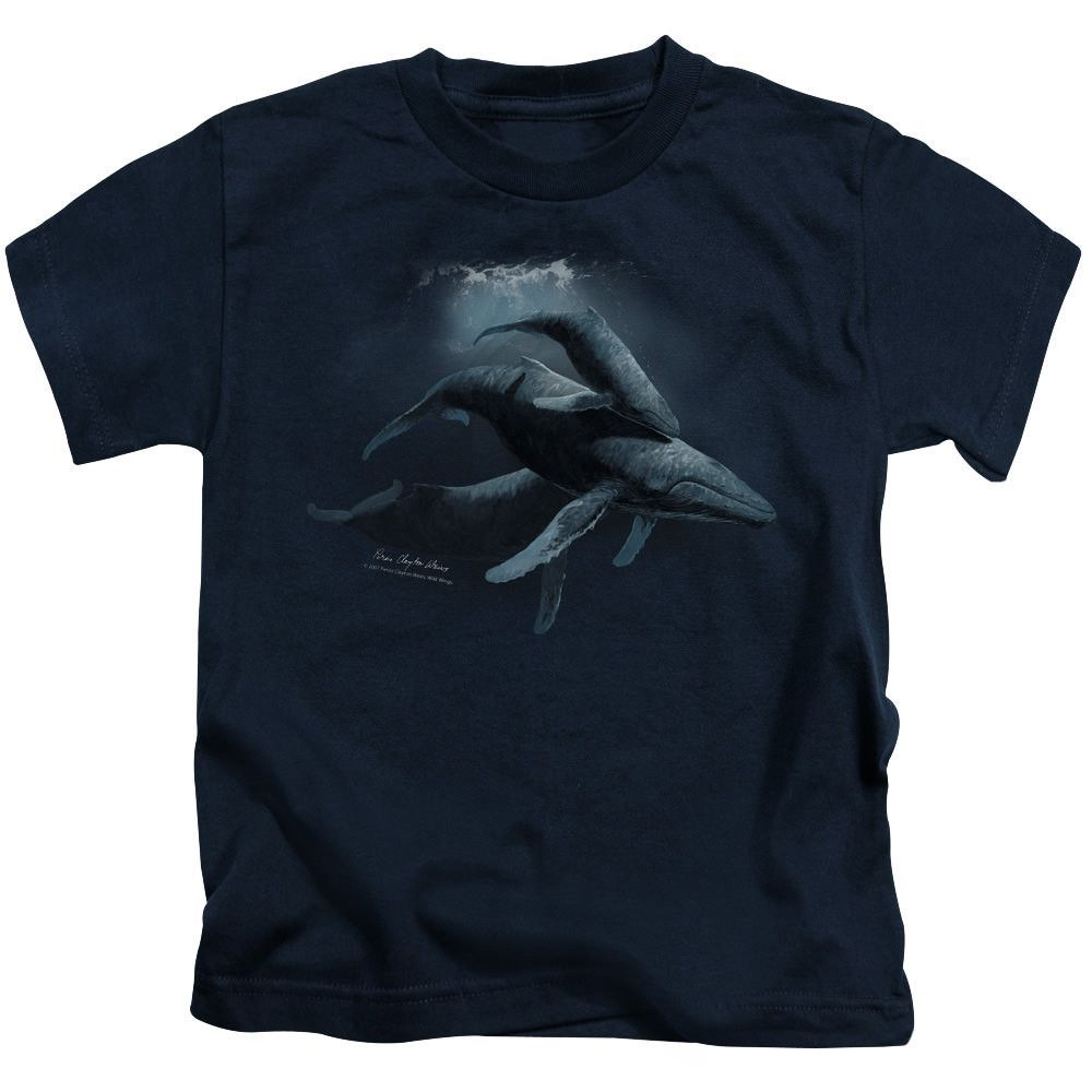 Wildlife Power&Amp;Grace Navy Kids T-Shirt
