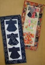 kimono material quilt hanging - Google Search