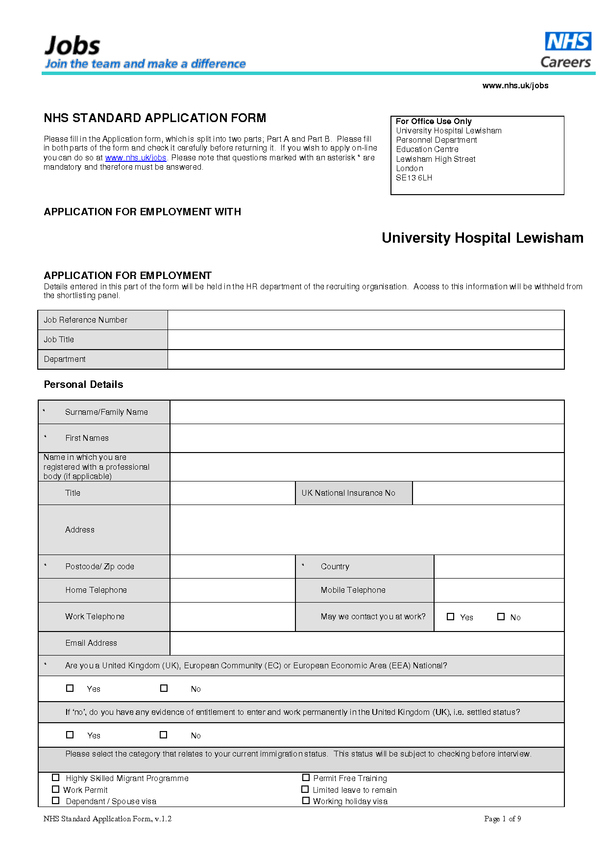 Standard Job Application Form   Job application form. Job application. Employment application