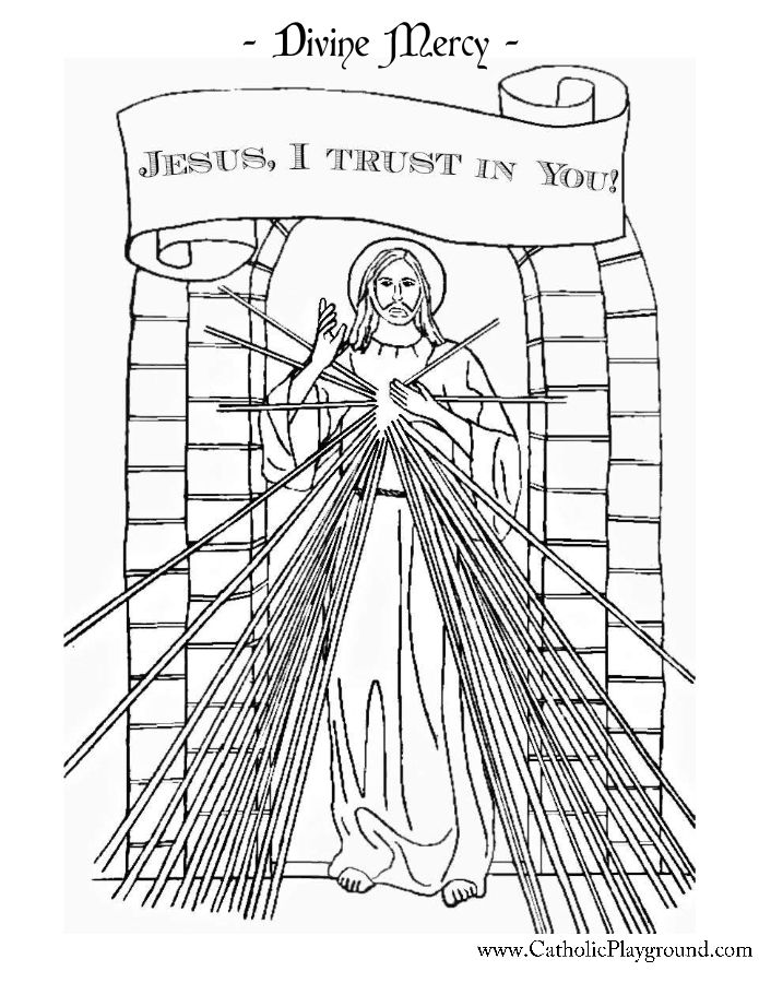 Divine Mercy Coloring Page Catholic Playground Divine Mercy